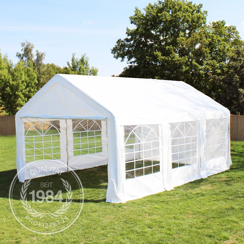partyzelt 4x6 m festzelt gartenzelt pavillon bierzelt wasserabweisend pe wei kaufen bei. Black Bedroom Furniture Sets. Home Design Ideas