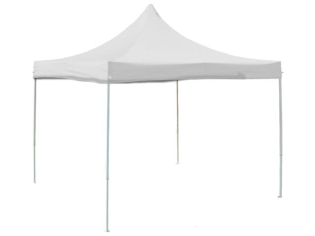 3x3m stabiler faltpavillon pavillon partyzelt profi qualit t stahl wei ebay. Black Bedroom Furniture Sets. Home Design Ideas