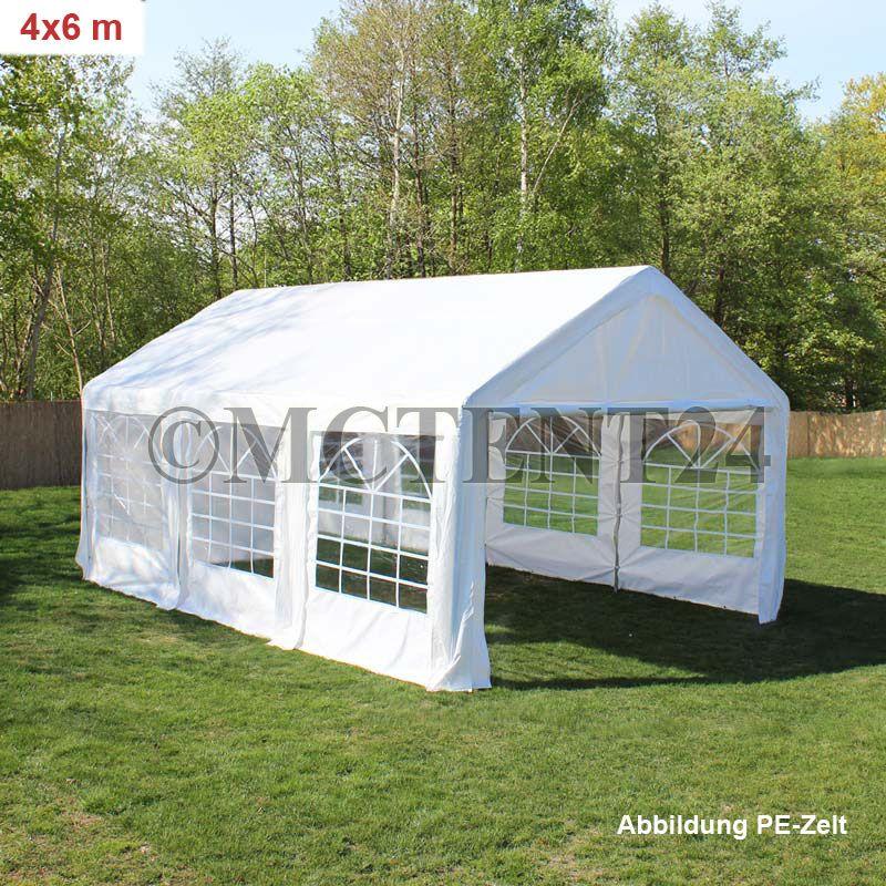 partyzelt festzelt pavillon pe 3x4 4x8 m gartenzelt vereinszelt bierzelt neu ebay. Black Bedroom Furniture Sets. Home Design Ideas