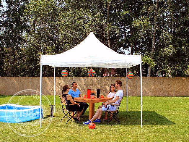 faltpavillon 3x3 partyzelt pavillon mit 4 seitenteilen. Black Bedroom Furniture Sets. Home Design Ideas