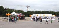 Kinder in München bei der Spenden-Aktion von Zeltschule