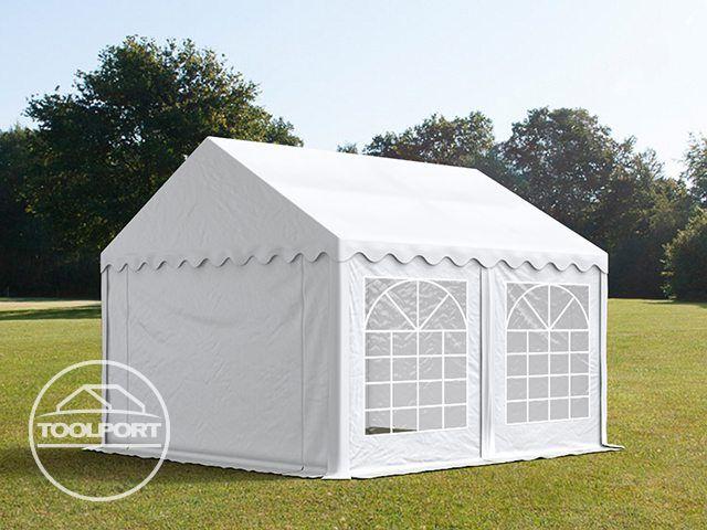 partyzelt 3x5m festzelt gartenzelt pavillon bierzelt wasserdicht pvc wei neu ebay. Black Bedroom Furniture Sets. Home Design Ideas
