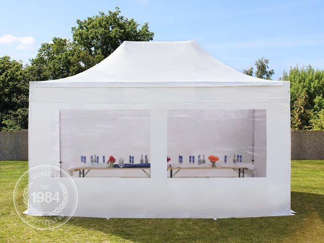 faltzelt faltpavillon 3x4 5 m alu pavillon gartenzelt partyzelt 400 g m wei ebay. Black Bedroom Furniture Sets. Home Design Ideas