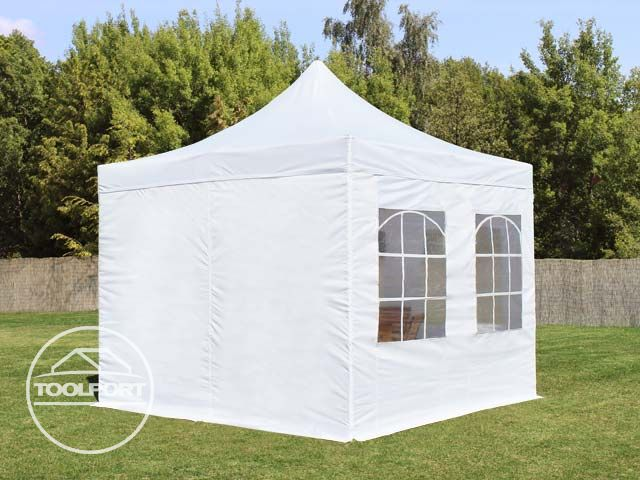 faltzelt faltpavillon 3x3 m pavillon 4 fenster gartenzelt. Black Bedroom Furniture Sets. Home Design Ideas