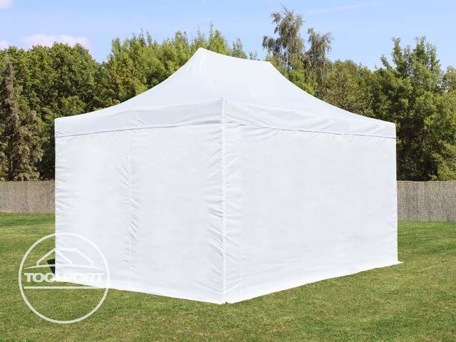 3x4 5 m faltpavillon faltzelt pavillon ohne fenster partyzelt gartenzelt in wei ebay. Black Bedroom Furniture Sets. Home Design Ideas