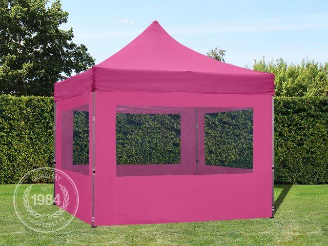 3x3m faltpavillon faltzelt klappzelt mit 4 seitenteilen 100 wasserdicht pink ebay. Black Bedroom Furniture Sets. Home Design Ideas