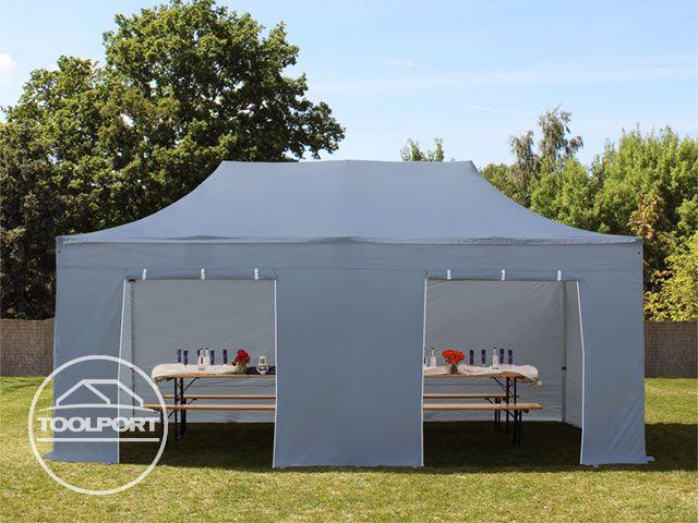 faltzelt alu 3x6m faltpavillon klappzelt pavillon mit 4. Black Bedroom Furniture Sets. Home Design Ideas