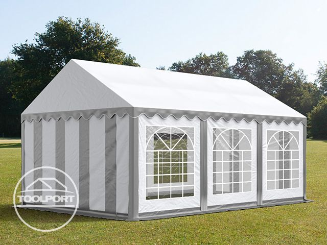 partyzelt 3x6m festzelt gartenzelt pavillon bierzelt wasserdicht pvc grau wei ebay. Black Bedroom Furniture Sets. Home Design Ideas