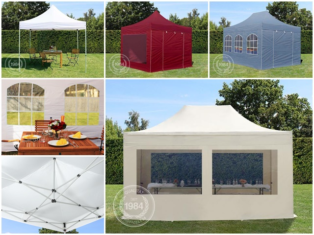 3x3 3x6 3x4 5m faltpavillon party zelt gartenpavillon. Black Bedroom Furniture Sets. Home Design Ideas