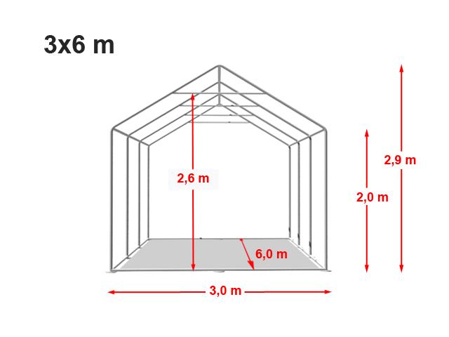 festzelt 3x6m premium mit bodenrahmen trend shop baden. Black Bedroom Furniture Sets. Home Design Ideas
