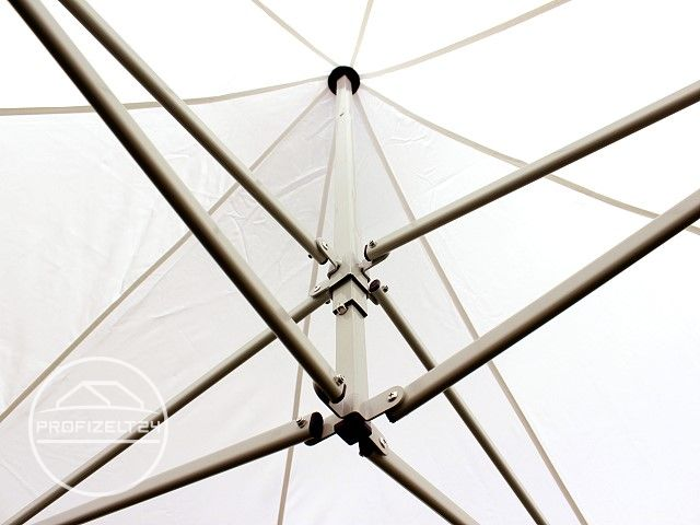 Ansicht ins Dach des Faltpavillons