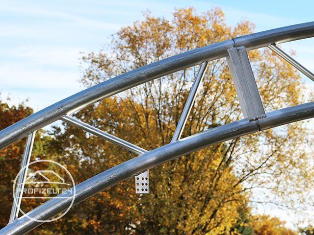 Rundbogenhalle mit fachwerk konstruktion 15 25m x 12m x 7 for Fachwerkkonstruktion stahl