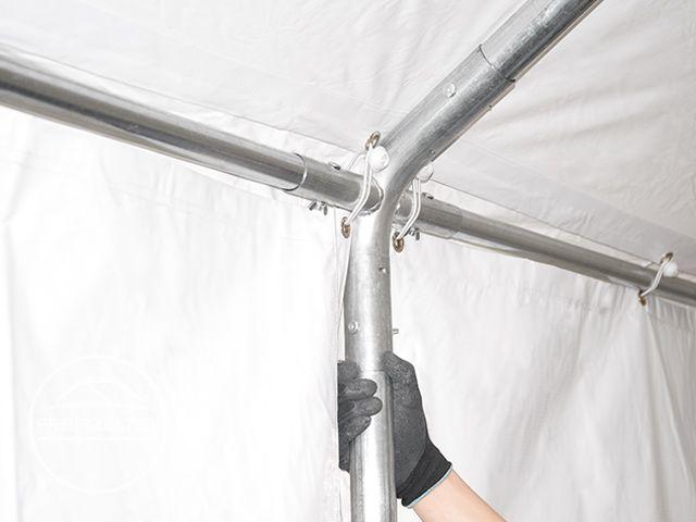 5x8m Lagerzelt XXL Zelt Unterstand PROFESSIONAL PVC 550 g/m² 2,6m ...
