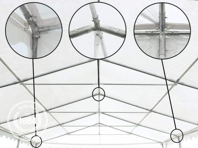Dachkonstruktion der Professional Zelthalle