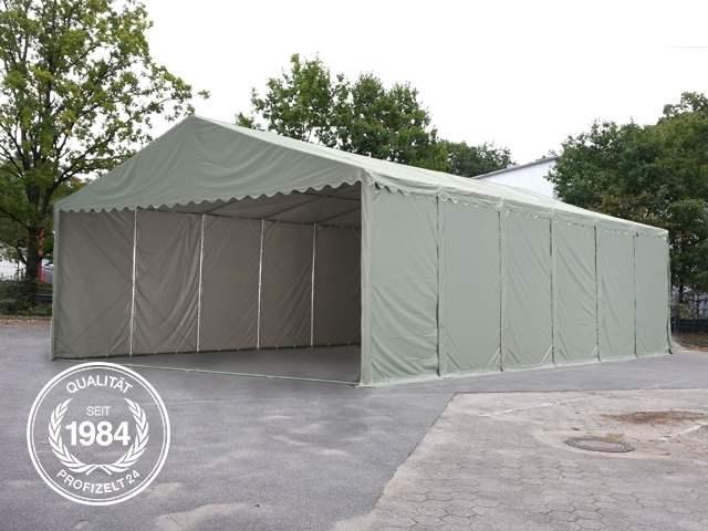 Professional Zelthalle leicht von der Seite fotografiert