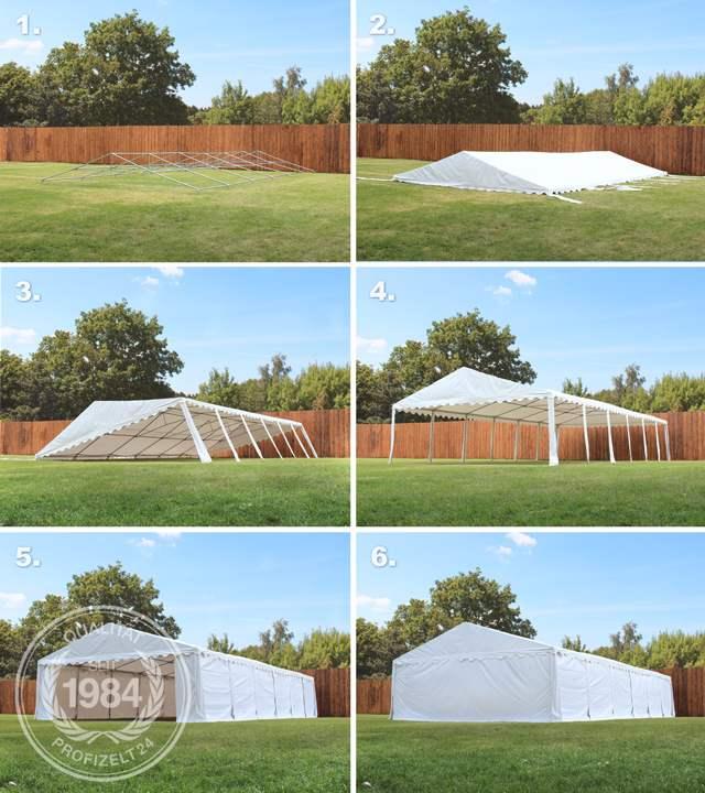 Aufbau eines Lagerzeltes in sechs Schritten
