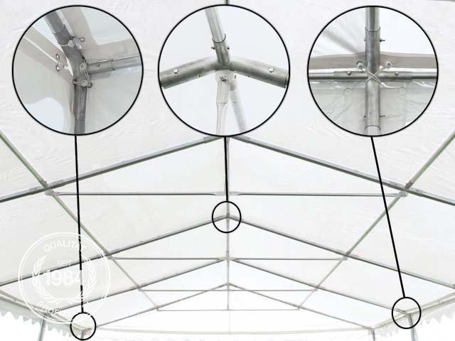 Dachkonstruktion im Zelt