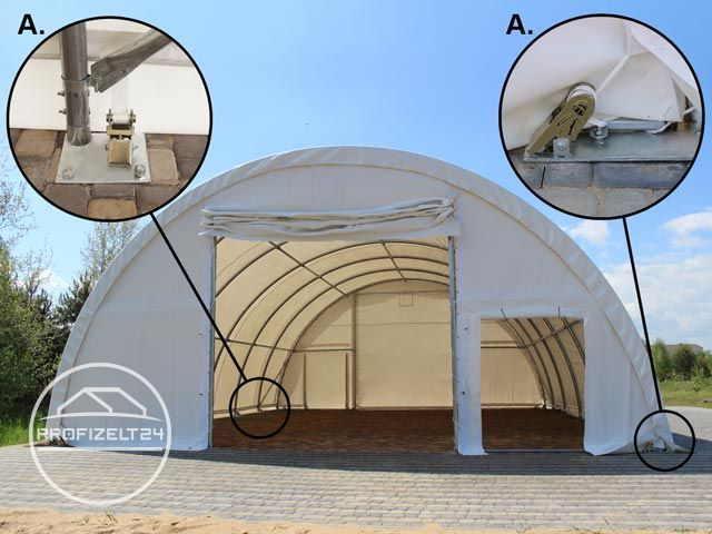 Ratschenspanner an der Zeltkonstruktion