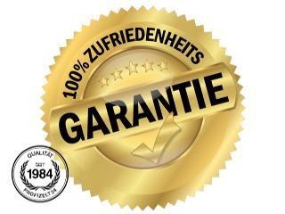 Siegel: 100% Zufriedenheits Garantie