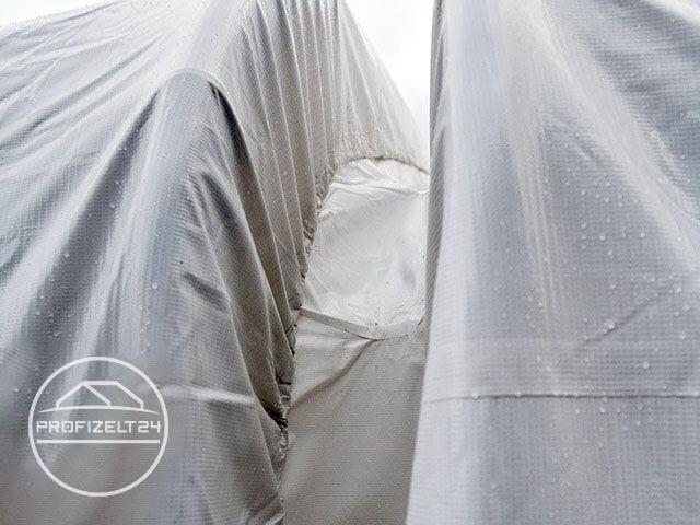 Perfekt geeignet, um Zelte zu verbinden: die Regenrinne