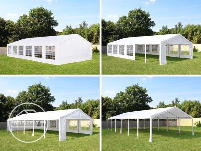 Veranstaltungszelte lassen sich in vielen Varianten aufbauen, z. B. geschlossen, halboffen oder vollständig geöffnet.