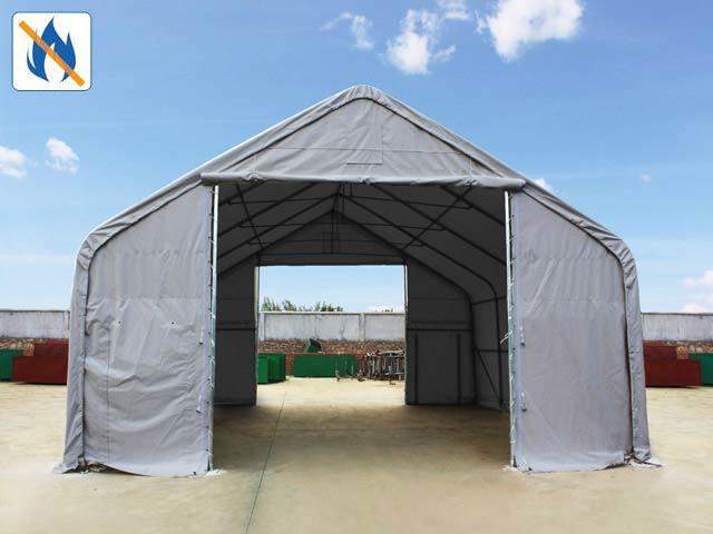 Besonders sicher: Zelthallen aus feuersicher zertifizierten PVC