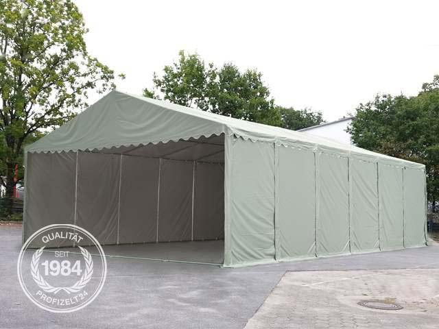 Professional Lagerzelt auf einer Betonfläche