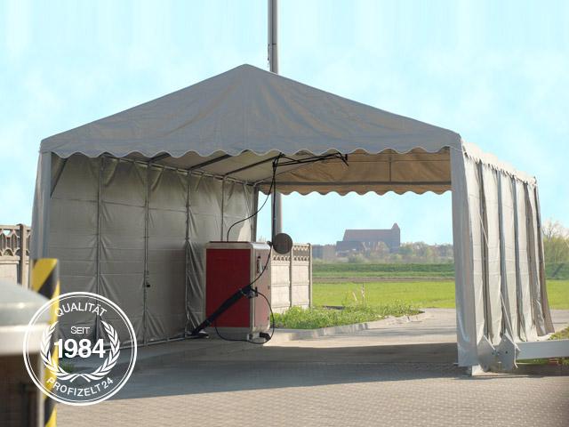 Lagerzelt als Unterstand genutzt