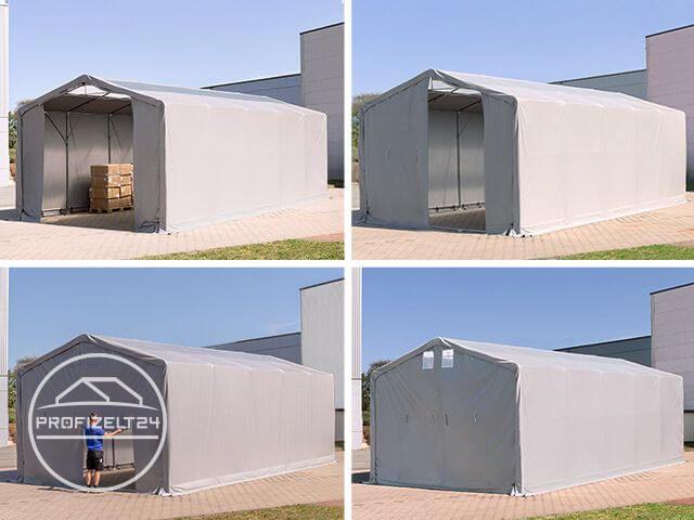 Zelthalle mit feuersicher zertifizierter PVC-Plane