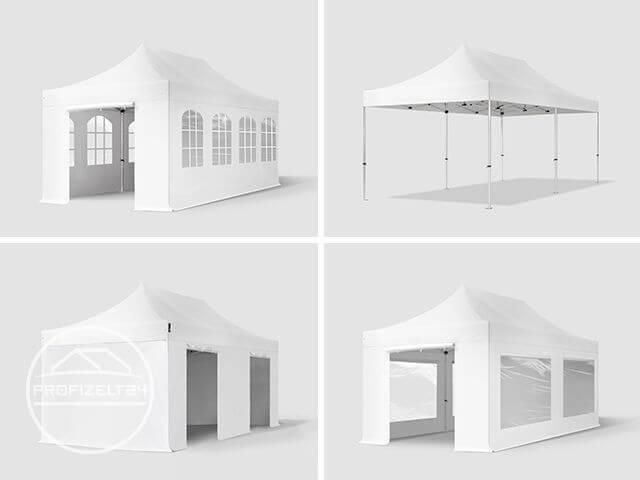 Komplett geschlossener Faltpavillon
