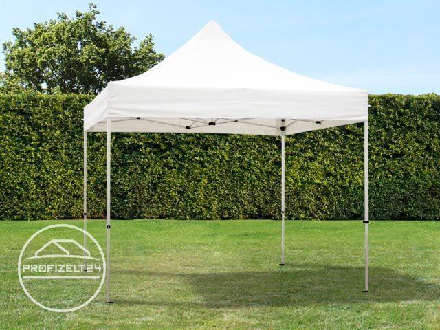 Professional Faltpavillon 3x3m in weiss mit zwei Seitenwänden