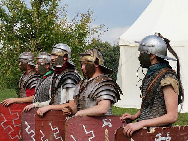 Militär und Zelte bei den Römern