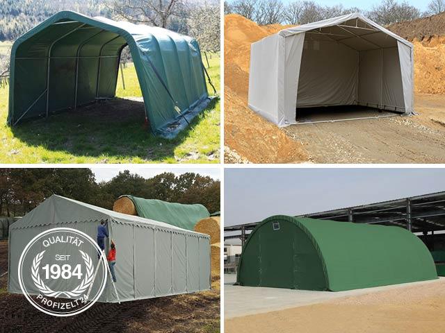 Zelte lassen sich vielfältig in der Landwirtschaft nutzen.