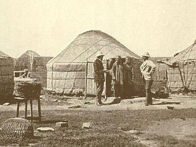 Mongolische Jurte: Bauform aus dem 19. Jahrhundert.