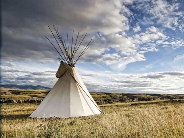Das Zuhause der Indianer: das Tipi.
