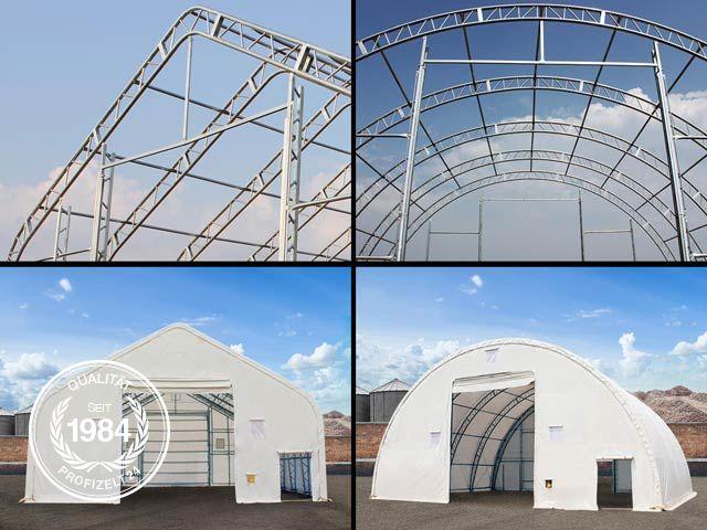 Zelthallen mit Fachwerk-Konstruktion