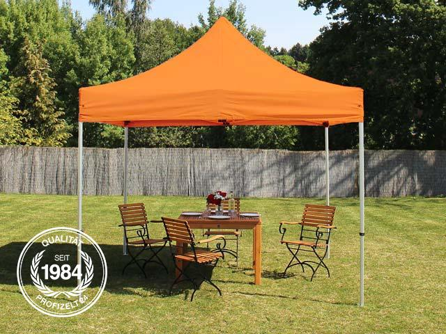3x3 m Faltpavillon, PREMIUM, orange