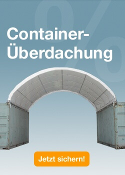 Container Überdachung SALE