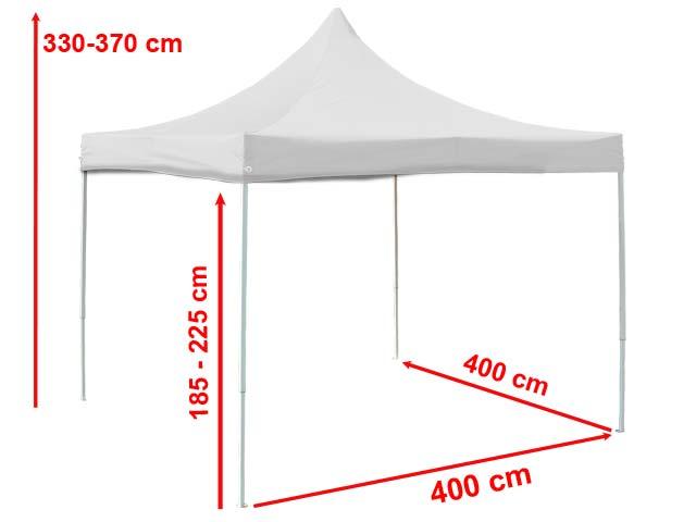 4x4 m faltpavillon partyzelt pavillon alu in wei gartenzelt unterstand 4260456190762 ebay. Black Bedroom Furniture Sets. Home Design Ideas