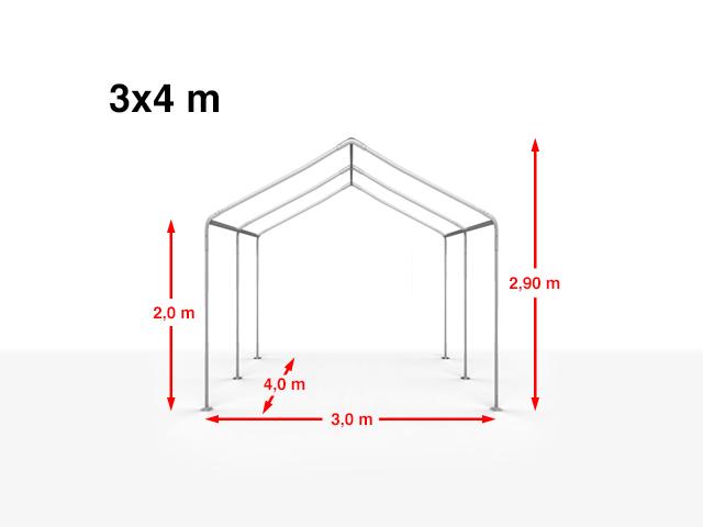 Details zu Pavillon 3x2 6x12m Festzelt Partyzelt Gartenzelt Unterstand PE PVC mit Fenstern
