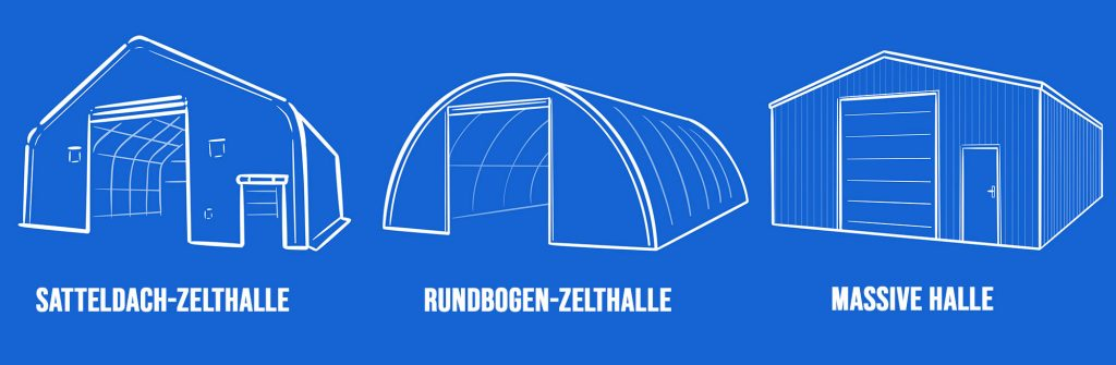 Verschiedene Lagerlösungen in der Landwirtschaft: Zelthallen oder massive Hallen