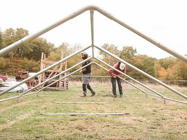 Einen Zeltboden bauen