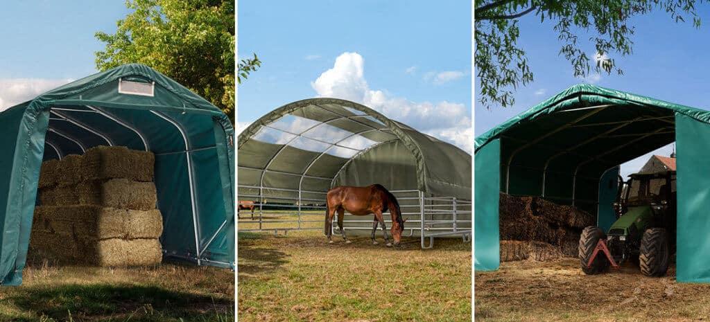 Mobile Zelte als ideale Lösung in der Landwirtschaft