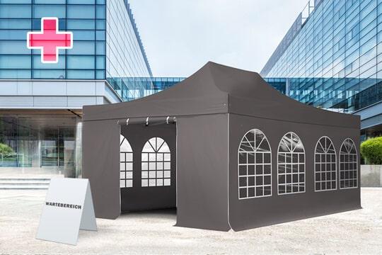 Pavillons als Corona-Wartebereiche nutzen