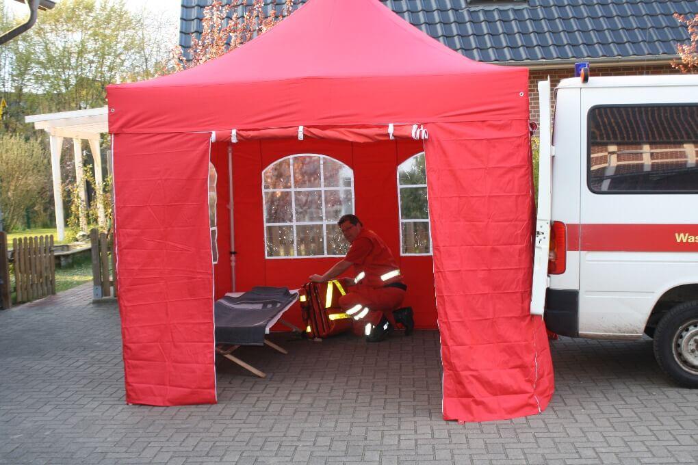 Sanitätszelte für den Notfall