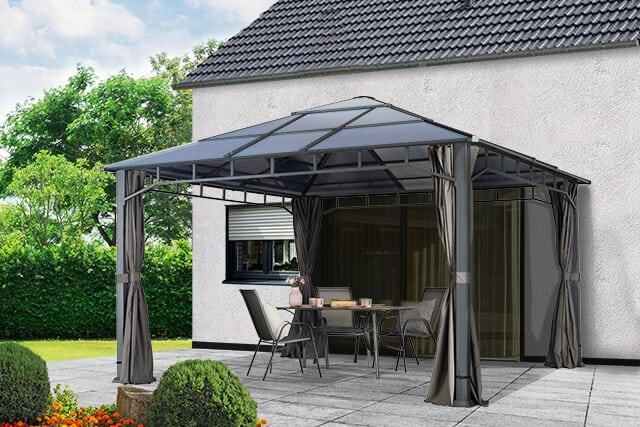 Gartenpavillons als ganzjährige Terrassenüberdachungen