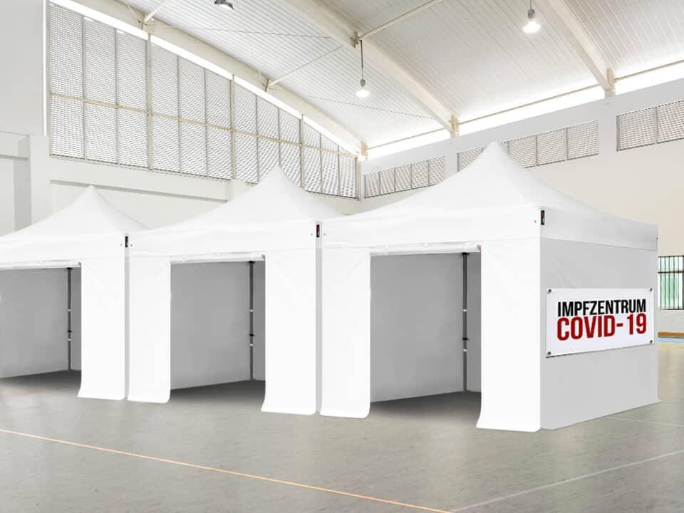 Faltpavillons als praktische Impfkabinen während Covid-19 nutzen