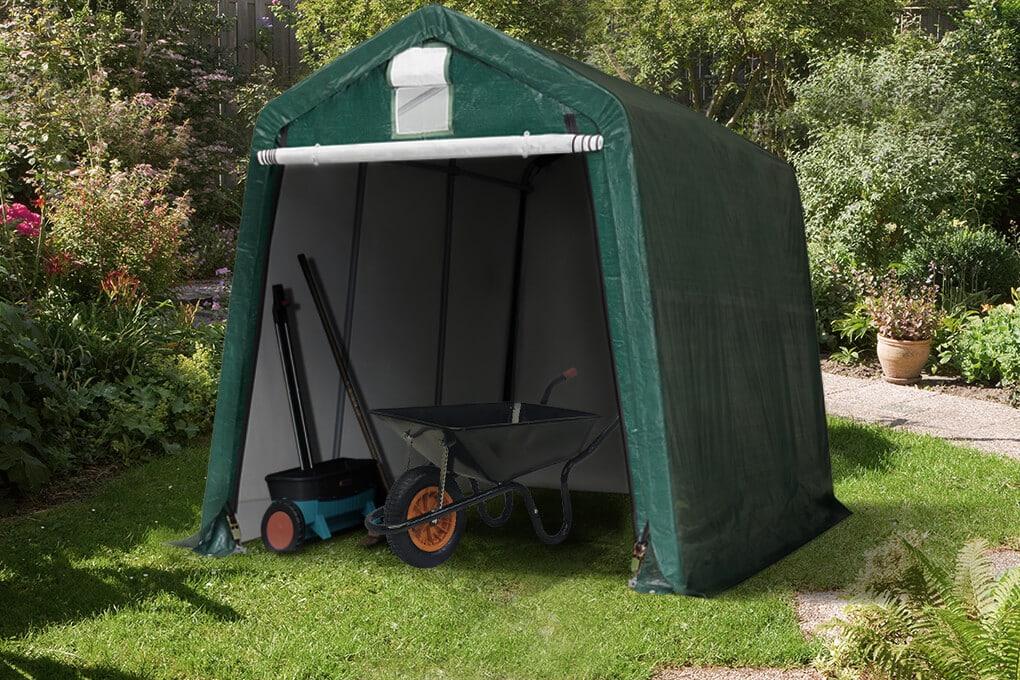 Schrebergarten gestalten mithilfe eines Zeltes