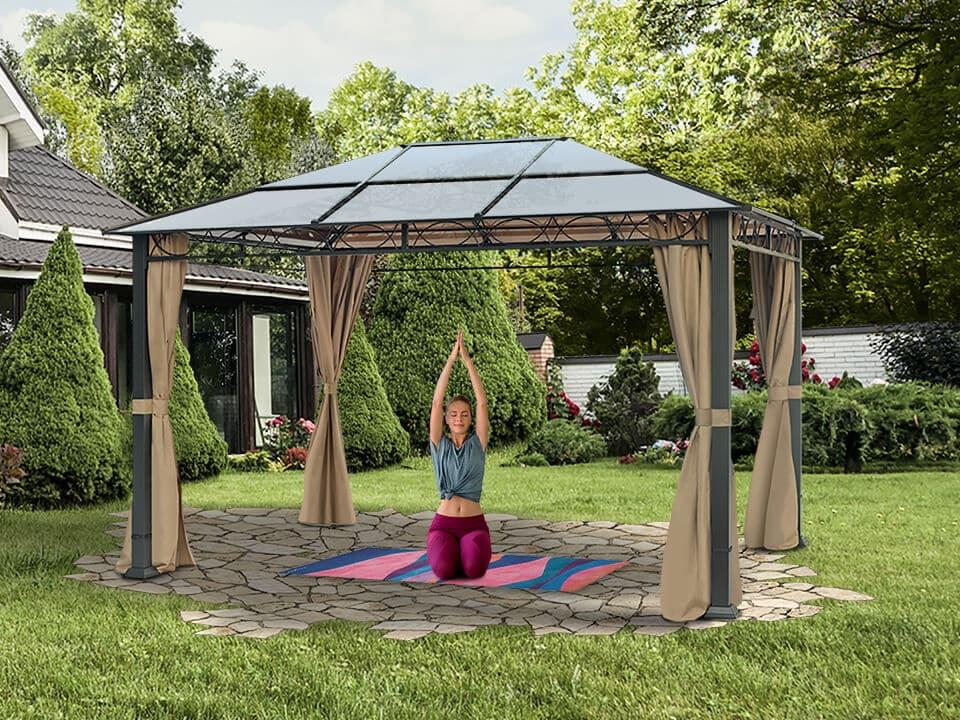 Hobbyraum Gartenpavillon - perfekt für Outdoor-Sport