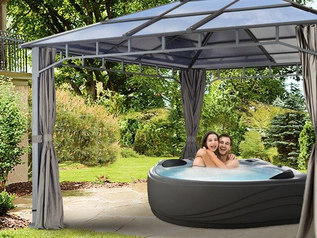 Edle Gartenpavillons als ideale Whirlpool-Überdachung